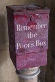 Herinner de Poors-Doos royalty-vrije stock afbeelding