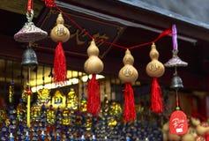 Herinnering bij het Lopen van straat in Chengdu, China Stock Foto