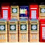 herinnering in de verouderde doos klassieke Britse ic van Engeland Londen Stock Foto's