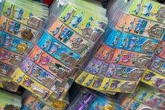 Herinnering in giftwinkels bij de stad van China, Singapore Stock Foto
