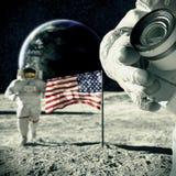 Herinnering van maan 3d illustratie Royalty-vrije Stock Foto's