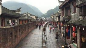 Herinneringen bij het lopen van straat in Hunan stock video