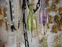 herinneringen Herinneringen van glas worden gemaakt dat engels parels Stock Fotografie