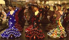 Herinneringen van Barcelona, Spanje flamenco royalty-vrije stock afbeelding