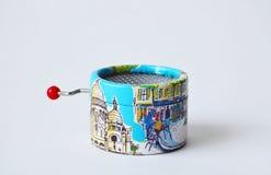 Herinnerings muzikaal-doos met meningen van Parijs aan zijn kanten Royalty-vrije Stock Foto
