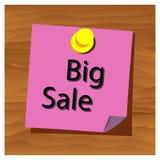 Herinneringsdocument vector van de woord de grote verkoop Vector illustratie royalty-vrije illustratie