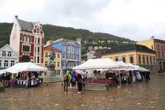 Herinneringsmarkt in Bergen Stock Afbeeldingen