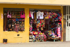 Herinneringswinkel in Banos, Ecuador Stock Fotografie