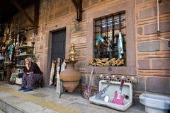 Herinneringswinkel in Istanboel stock afbeelding