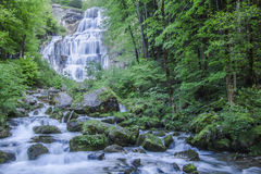 Herisson fall in Jura, France Stock Photography