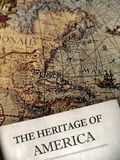 Heritage. Old map and history book Royalty Free Stock Photography