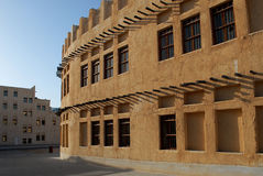 Heritage architecture in Doha. Architecture doha. a land mark in qatar Stock Images