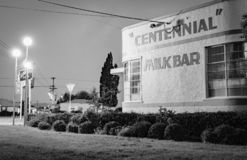 Heritage art deco style Centennial Milk Bar royalty free stock photos