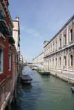 Heritage beautiful building with canel in Venice Stock Photo