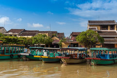 Heritage Boat. View on the old town of Hoi An. Vietnam. Unesco World Heritage Site Royalty Free Stock Image