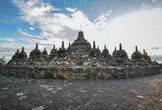 Heritage Buddist temple Borobudur complex in Yogjakarta in Java Royalty Free Stock Image