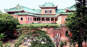 Heritage Chinese Mansion in Panorama view Royalty Free Stock Photos