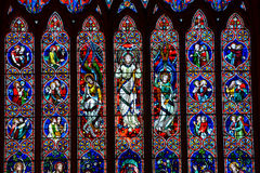 Heritage church Melbourne stained glass Royalty Free Stock Photo