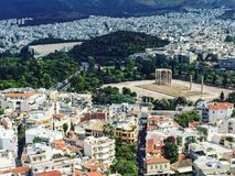 Olympian Zeu, Athens. One of the important Attractions in Athens- Olympian Zeus Royalty Free Stock Image