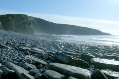 Heritage coast. The Heritage Coast South Wales @ Dunraven Bay winter scene with the tide receding Stock Images