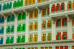 Heritage colourful Windows in Singapore Royalty Free Stock Photos