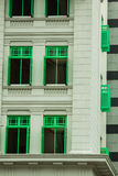 Heritage colourful Windows in Singapore Royalty Free Stock Photography