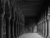Heritage Columns at Taj Mahal royalty free stock photography
