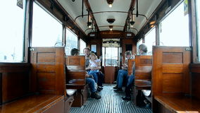 Heritage electric tram, Amsterdam, Netherlands, stock footage