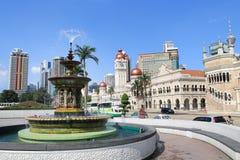 Heritage fountain at dataran merdeka Stock Photo