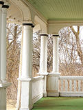 Heritage Home Front Porch. Front porch or veranda of an old heritage building formerly used as a stop for the stagecoach on Prince Edward Island stock photo