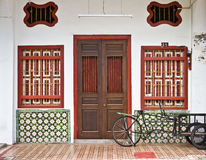 Heritage House. Heritage old house in Penang Royalty Free Stock Photos