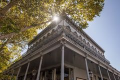 Heritage house in Old Sacramento, California royalty free stock images