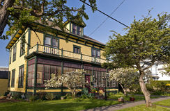 Heritage House. VICTORIA, BC - CIRCA APRIL 2014 - The Ashcroft House. Ashcroft House is a graceful 1898 heritage bed and breakfast in the James Bay area of Royalty Free Stock Images
