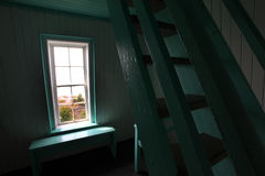 Heritage lighthouse. Interior of a Canadian heritage lighthouse Stock Photography