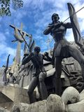 Heritage Monument Cebu City. Phillipines tableau of sculptures made of concrete brass and steel related to the history of Cebu located in the historic Parian Royalty Free Stock Images