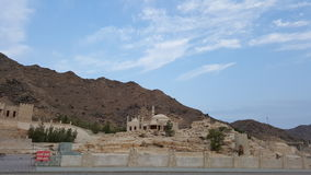 Heritage Mosque. In fujairah heritage area where mention not allow to close to this mosque Stock Image