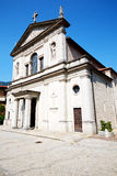 Heritage  old architecture in europe milan religion       and su Royalty Free Stock Images