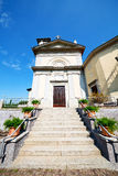 heritage  old architecture in italy europe milan       and sunli Stock Image