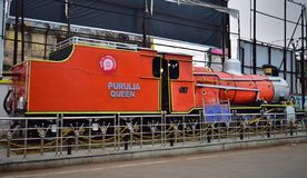 HERITAGE PURULIA QUEEN train, manufactured in Paris, in 1948, commissioned in 1953 in India stock photography