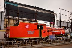 HERITAGE PURULIA QUEEN train, manufactured in Paris, in 1948, commissioned in 1953 in India royalty free stock photo