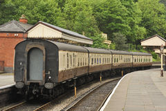 Heritage rail carriages, Llangollen Stock Photo