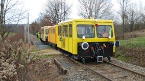 Heritage railway at the moor fields Stock Photo