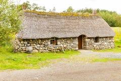 Heritage site highland folk museum scotland reconstruction of Sc stock images
