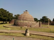 The Sanchi stupa royalty free stock image