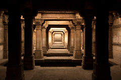 Heritage stepwell with shades of light Royalty Free Stock Photo