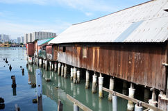 Heritage stilt houses of the Chew Clan Jetty in Penang, Malaysia Stock Photos