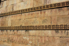 Heritage stone carving wall, dada harir, Ahmedabad, India. Top angle of monument called dada hari ni vav. Vav literal meaning in english is step well Stock Photography