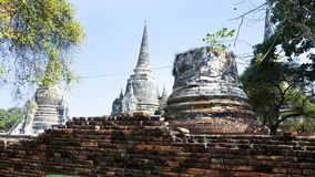 Heritage temple in the area of Ayutthaya stock images