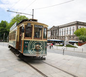 Heritage tram in the center of Porto, Portugal Royalty Free Stock Image