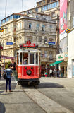 Heritage tram on Istiklal Avenue, Istanbul Stock Images